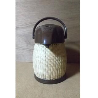 ゾウジルシ(象印)の籐(とう)エアーポット  新品(電気ポット)