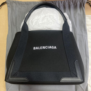 Balenciaga - BALENCIAGA バレンシアガ トート ネイビー カバ スモール キャンバス