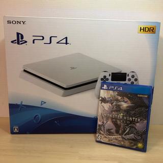 PlayStation4 - PS4 本体 CUH-2100AB02(白 500GB) & モンハンワールド