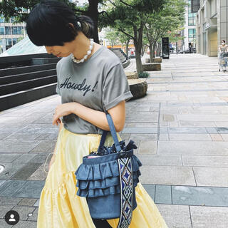 セツコサジテール デニム ピクニック バケツ型バッグ