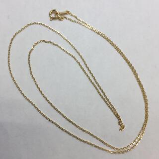 K18 18金ネックレス 50cm カットあずきネックレス 新品レディース