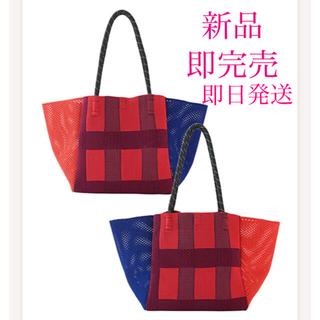 familiar - 【新品】ファミリア トリコテ コラボ サイドメッシュトートバッグ 赤 レッド
