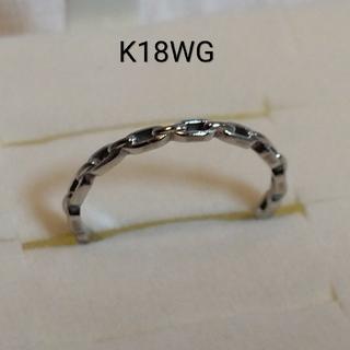 K18WG  リング  ピンキー