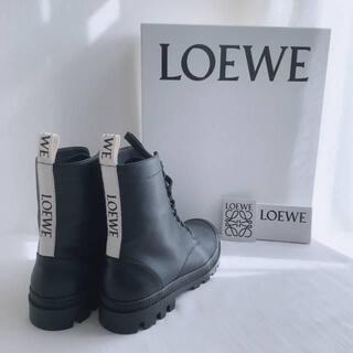 LOEWE - LOEWE ロエベ コンバットブーツ(カーフスキン) 24.5~25cm
