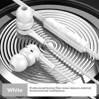 イヤホン ホワイト 白 カナル型 有線 イヤフォン マイク マイク付き 高音質