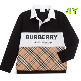 BURBERRY - Burberry バーバリー ポロシャツ 長袖 Tシャツ 4Y 104cm