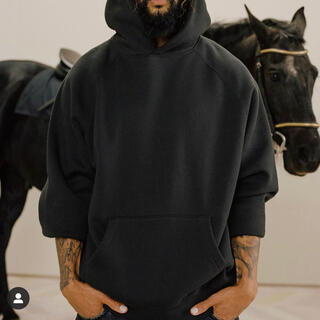 FEAR OF GOD - ESSENTIALS PULLOVER HOODIE BLACK L パーカー