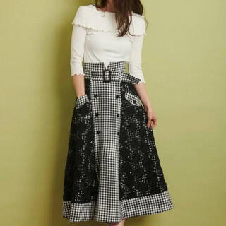Noela - レースミックストレンチスカート