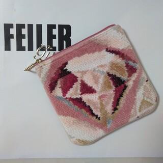 FEILER - フェイラー ユーフォリア  カドゥソル ダイヤモンド柄 フラットポーチ
