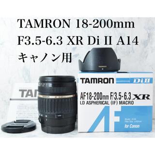 TAMRON - 美品●使える高倍率レンズ●タムロン 18-200mm A14 キャノン用