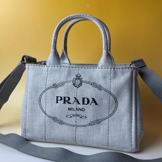 PRADA - PRADA 極美品 2way ミニ カナパ グレー ハンドバッグ プラダ