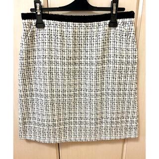 ロペピクニック(Rope' Picnic)のロペピクニック*白×黒ツイードスカート(ひざ丈スカート)