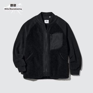 UNIQLO - UNIQLO x WM フリースオーバーサイズジャケット  BLACK XL