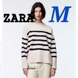 ZARA - ZARA Mサイズ ボーダーニットセーター ストライプ オーバーサイズ