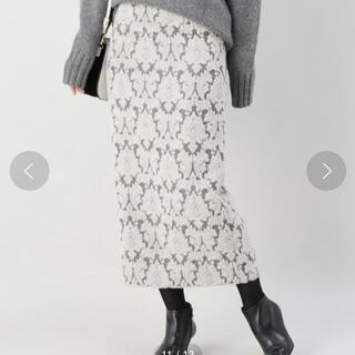 IENA - 【IENA】シャギージャガードペンシルスカート 36サイズ