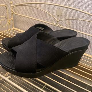 crocs - crocs  クロックス  サンダル ヒール 黒 ブラック