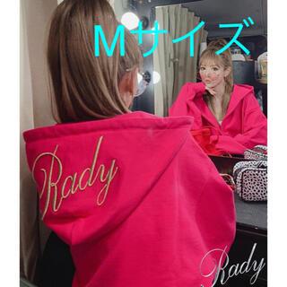 レディー(Rady)のRady  フーディ セットアップ M ショッキング ピンク パーカー レギンス(ルームウェア)