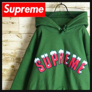 Supreme - 【希少色】即完売 Supreme シュプリーム パーカー 刺繍アーチロゴ 未使用
