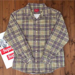 Supreme - 【新品同様】Printed Plaid Shirt【Tan/M】