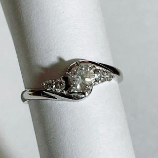 プラチナ Pt900 ダイヤモンド0.468Carat リング 13号