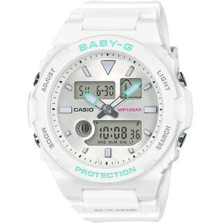 カシオ(CASIO)のカシオ BABY-G Gライド 90'sフォルム タイドグラフ 腕時計 ホワイト(腕時計)