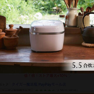 タイガー(TIGER)の新品未使用 5.5合 タイガー 圧力IH JPC-G100WA エアリーホワイト(炊飯器)
