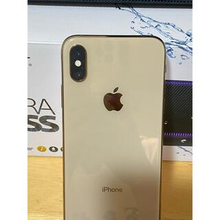 アイフォーン(iPhone)の【美品】iPhone Xs Gold 64GB SIM フリー おまけケース付き(スマートフォン本体)