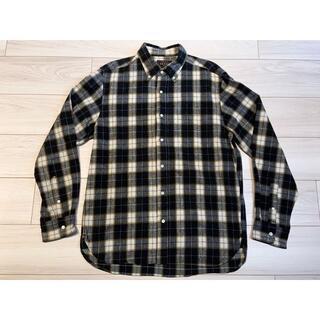 ビームス(BEAMS)のBEAMS PLUS シャギー チェック ボタンダウンシャツ イエロー L(シャツ)