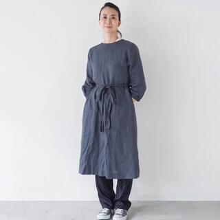 フォグリネンワーク(fog linen work)のfog  真藤舞衣子 リネンのかっぽう着 ホームドレス(ロングワンピース/マキシワンピース)
