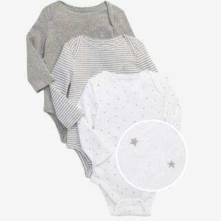 ベビーギャップ(babyGAP)の新品未使用 GAP 長袖ロンパース 80(肌着/下着)