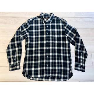 ビームス(BEAMS)のBEAMS PLUS シャギー チェック ボタンダウンシャツ グリーン L(シャツ)