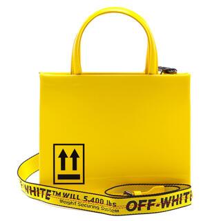 オフホワイト(OFF-WHITE)のoff-white patent mini BOX BAG yellow(ショルダーバッグ)