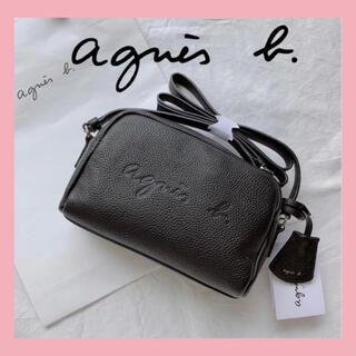 agnes b. - 【新品】agnes b. アニエスベー ロゴ入り エンボスショルダーバック 黒