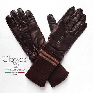 フォーティーファイブアールピーエム(45rpm)の美品Gloves✨グローブス ラムスキン 羊革 カシミヤ 手袋 レザーグローブ(手袋)