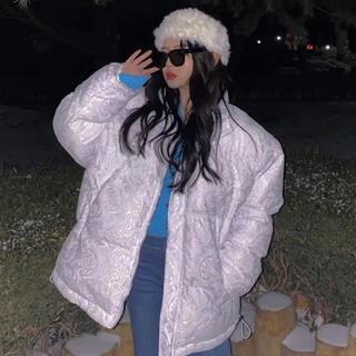 ♡激かわいい♡ケミカルレース ホワイト 白 ダウンジャケット