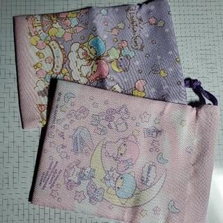 サンリオ(サンリオ)のLittleTwinStars 巾着 ×2種類(ランチボックス巾着)