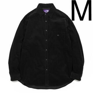 THE NORTH FACE - ノースフェイス パープルレーベル コーデュロイビッグシャツ 新品 M ブラック