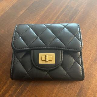 CHANEL - CHANEL ラムスキン三つ折り財布