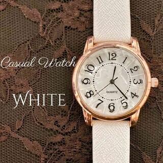 新作 レディース 腕時計 クォーツ ホワイト×ゴールド 時計(腕時計)