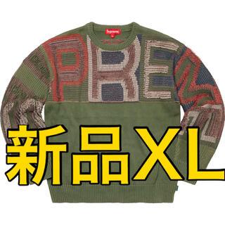 Supreme - supreme  Chenille Logo Sweater Olive XL