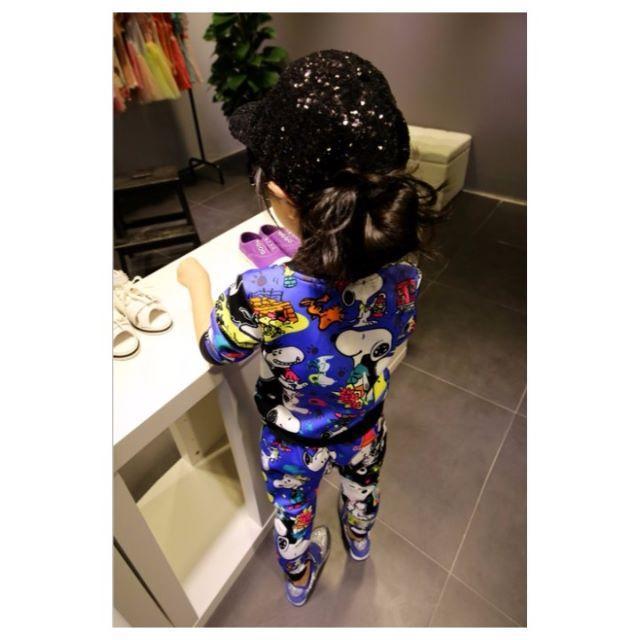 韓国子供服 秋新作セットアップ/ブルー 15号 キッズ/ベビー/マタニティのキッズ服 女の子用(90cm~)(その他)の商品写真
