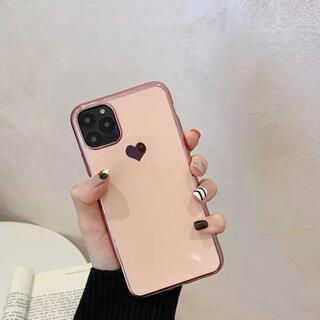 【ピンク】キャンディーカラー ハート iPhoneケース