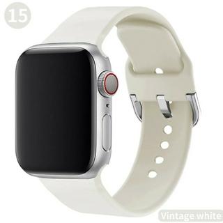 Apple Watch ソフト バンド 38/40mm ビンテージホワイト(腕時計)