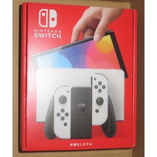 ニンテンドースイッチ(Nintendo Switch)の送料込み 新品 ニンテンドースイッチ 有機ELモデル ホワイト(家庭用ゲーム機本体)