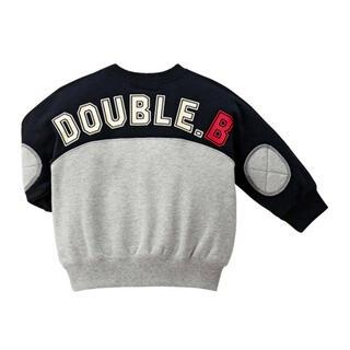 ダブルビー(DOUBLE.B)の新品 ミキハウス ダブルビー  トレーナー 100  バックロゴ ロゴトレーナー(その他)