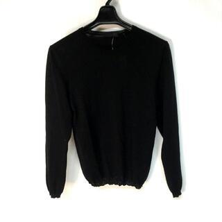 プラダ(PRADA)のプラダ 長袖セーター サイズ40 M美品  - 黒(ニット/セーター)