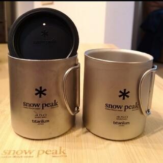 Snow Peak - スノーピーク チタンダブルマグ450×2 450用リッド