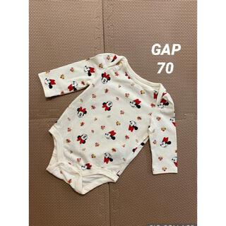 ギャップ(GAP)のGAP ミニーちゃんロンパース 70(ロンパース)