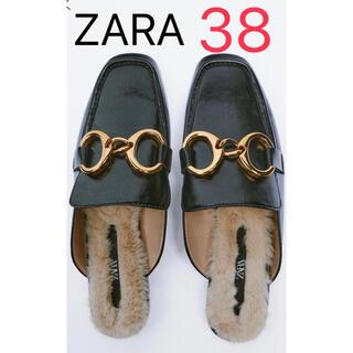 ZARA - 【完売/新品】ZARA バックルミュール 38