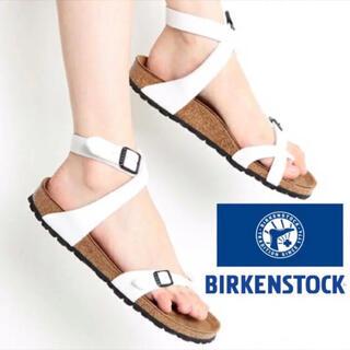ビルケンシュトック(BIRKENSTOCK)のBIRKENSTOCK︎ アンクルストラップタイプサンダル エナメルホワイト(サンダル)